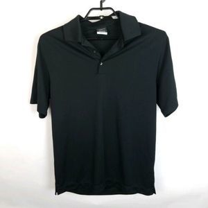 Mens Nike Golf Polo Shirt Dri-Fit SZ Medium Black